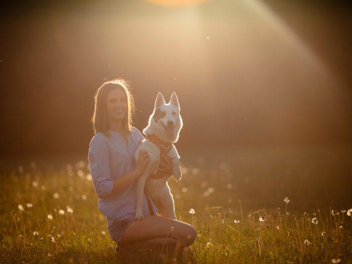 Asmeninė fotosesija su šuniu